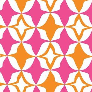 Harlequin Diamond Pink & Orange