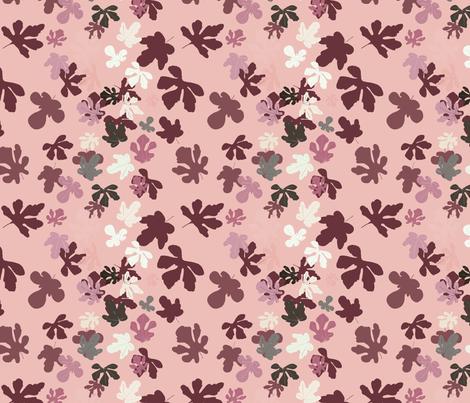 Fig Leaves fabric by paula_ohreen_designs on Spoonflower - custom fabric