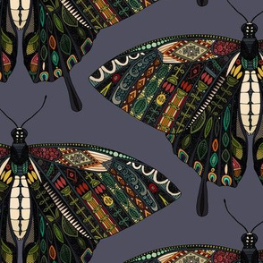 swallowtail butterfly dusk