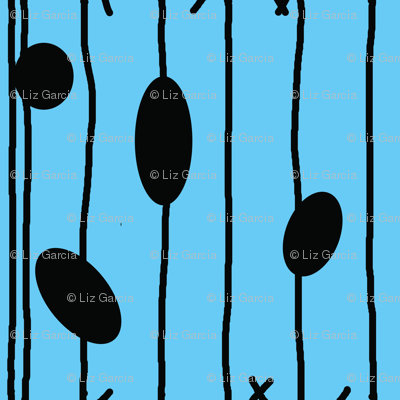 Sally Inspired Blue Pattern