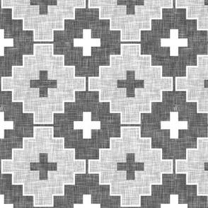 grey linen aztec