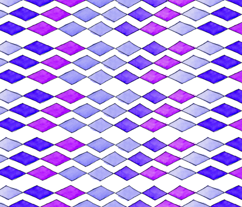 Bowling Diamonds - purple hues fabric by designergal on Spoonflower - custom fabric