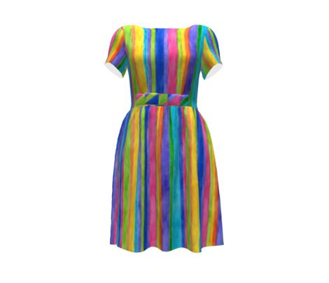 Watercolor Stripes - vertical
