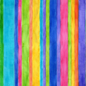 Watercolor Stripes - vertical