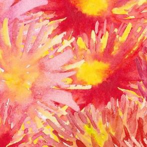 Seamless vivid flower blossom