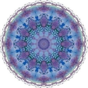 Violet blue mandala