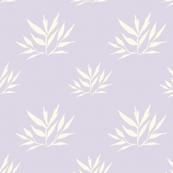 Botanical Leafy Cream on Lilac