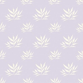 Botanical Leafy Cream on Lilac