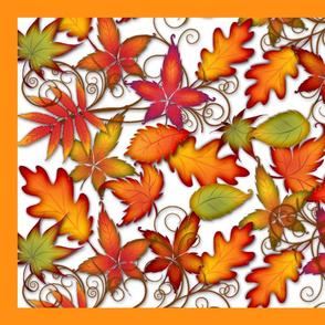 TeaTowel Autumn Leaves
