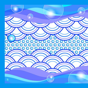 Tea Towel Waves & Bubbles