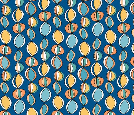 Beach Balls Blue fabric by kirstenkatz on Spoonflower - custom fabric