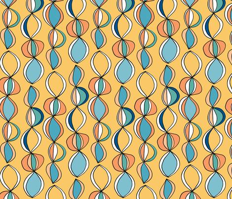 Beach Balls Yellow fabric by kirstenkatz on Spoonflower - custom fabric