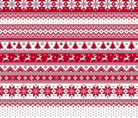 Nordic Christmas fabric by sssowers on Spoonflower - custom fabric