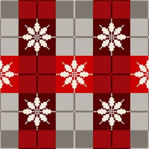 Poinsettia Plaid