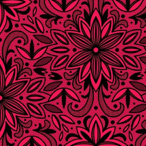 Blackwork Lace (Red)