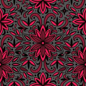 Blackwork Floral
