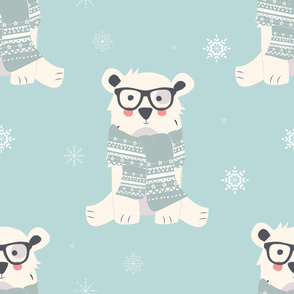 Bear Christmas pattern 001
