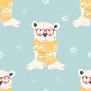 Bear Christmas pattern 002