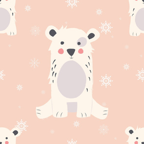 Bear Christmas pattern 005