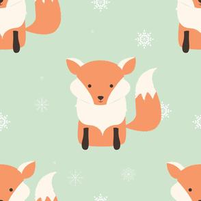 Fox Christmas pattern 001