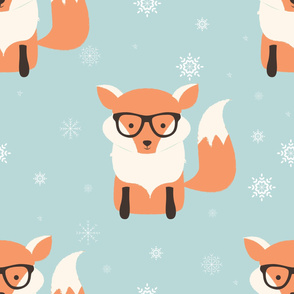 Fox Christmas pattern 002