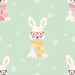 Bunny Christmas pattern 001