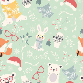 Christmas animals 002