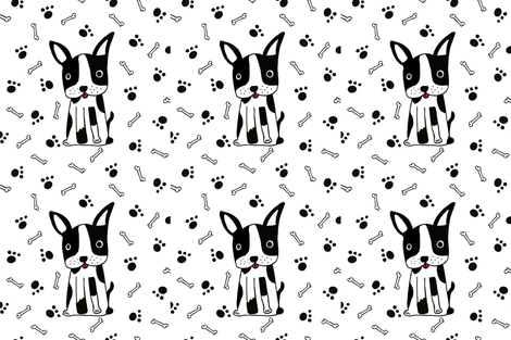 bulldog fabric by martinaz on Spoonflower - custom fabric