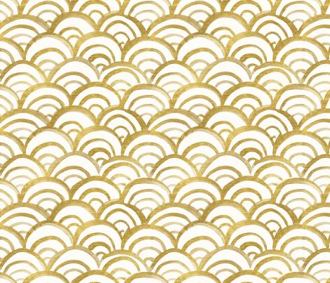 mermaid Gold fabric by crystal_walen on Spoonflower - custom fabric