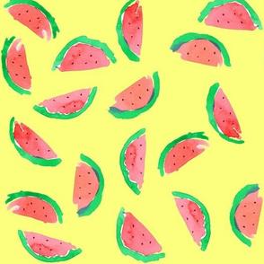watermelon red yellow