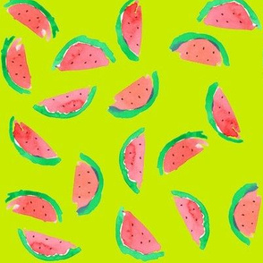 watermelon red chartreuse