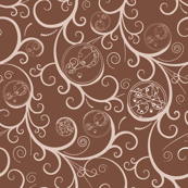 Geometric Alien Scroll Medium Brown