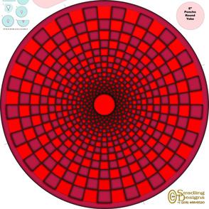 Pink-Orange Illusion Cover-up Poncho