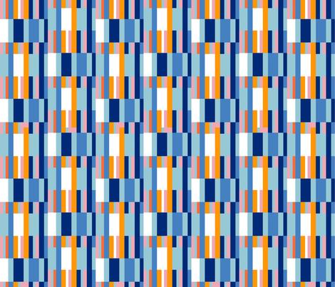 Riviera Stripes Blue fabric by kirstenkatz on Spoonflower - custom fabric