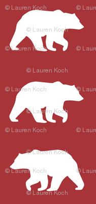Bear Hike // Lumberjack - scarlet