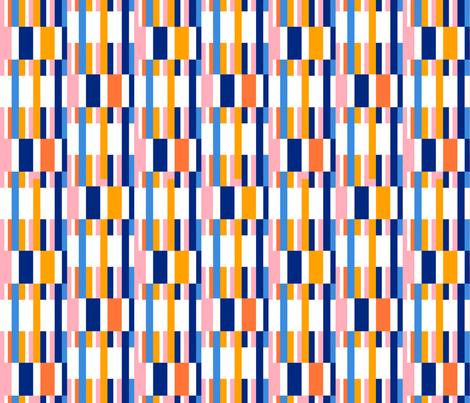 Riviera Stripes White fabric by kirstenkatz on Spoonflower - custom fabric