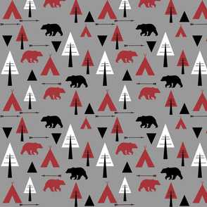 bear camp // Lumberjack on grey