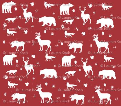 woodland animals // lumberjack