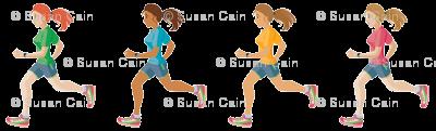 Female girl runner Emoji