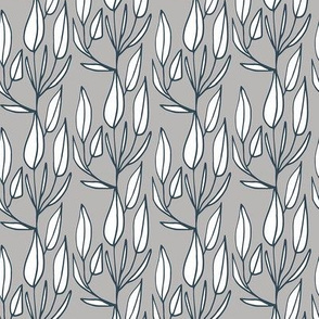 Prairie Leaves Silver Grey
