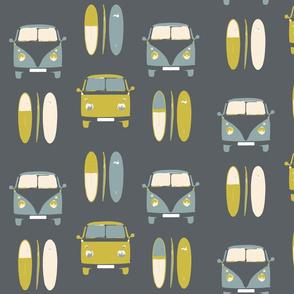Retro, vintage, camper vans and surf boards col 4