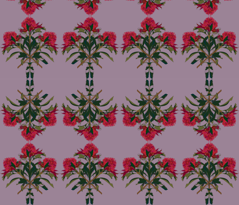 2941 Waratah#2 - Mauve fabric by jennieholtsbaumdesign on Spoonflower - custom fabric