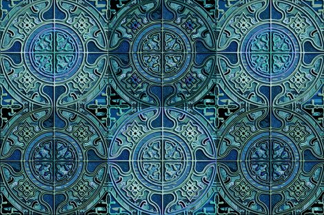 Rmandala_tile_groupe_de_4_bw_turquoise_and_jade_stones_by_paysmage_shop_preview