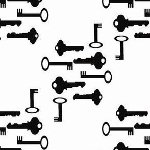 French Keys Black and White