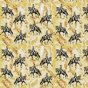 Lengthen dressage horse - taupe w  rust