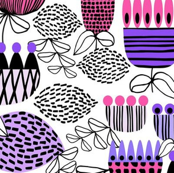 Purple Mid Century Garden