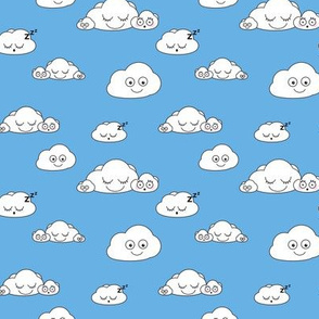 Clouds // Cute clouds blue baby nursery kids design