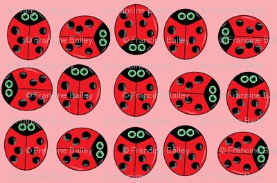 ladybugs  pink
