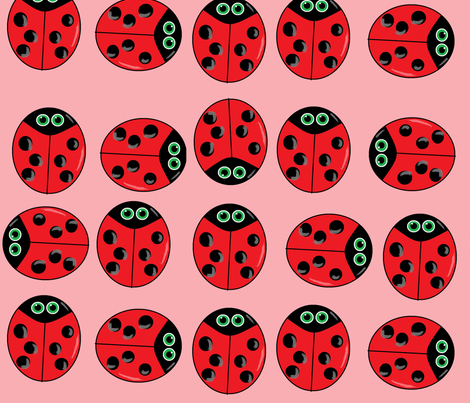 ladybugs  pink fabric by franbail on Spoonflower - custom fabric