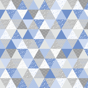 Pastel Potter Triangles - Blue & Gray